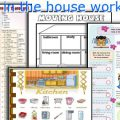 Rooms In The House Worksheets For Preschool