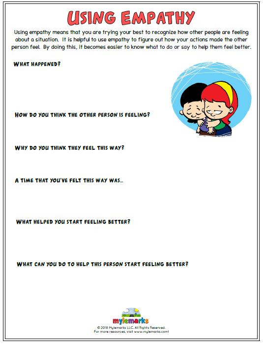 Using Empathy Worksheet