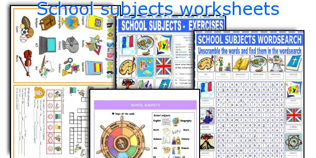 School Subjects Worksheets