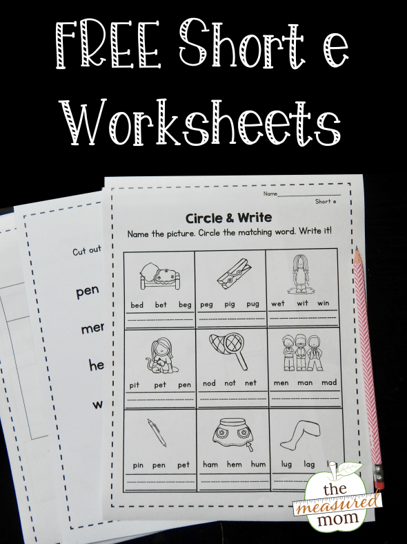 Free Short E Worksheets