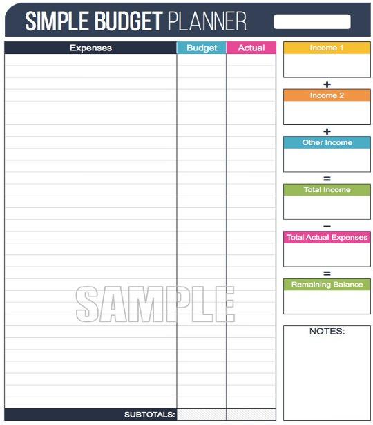 Basic Budget Calculator