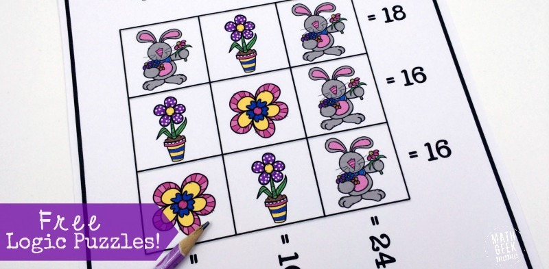 Spring Themed Logic Puzzles {free!}