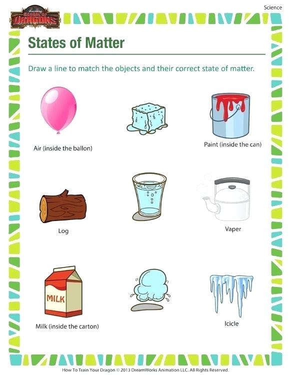 States Of Matter Printable Science Worksheets For Grade 3rd Grade