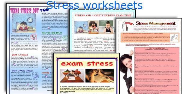 Stress Worksheets