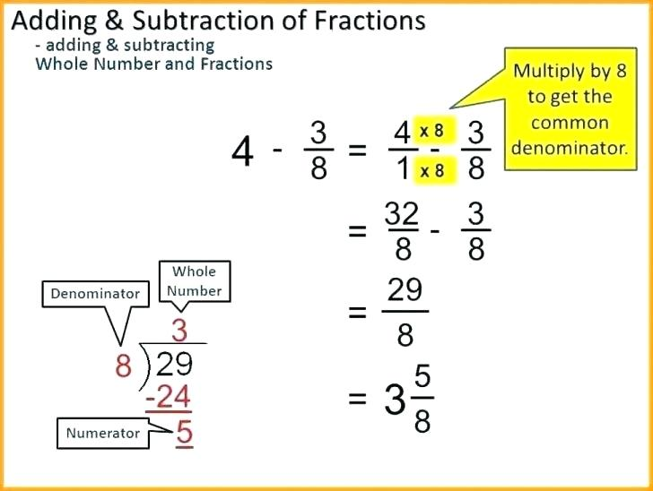 Subtraction Of Fractions Worksheets – Eastcooperspeakeasy Com