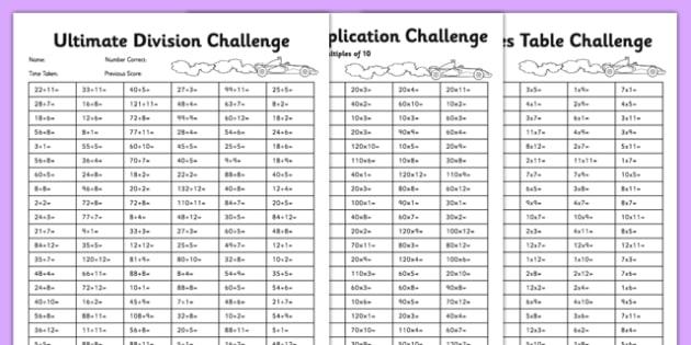 Ultimate Multiplication And Division Worksheet   Worksheet Pack