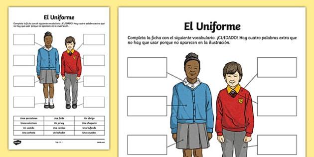 School Uniform Worksheet   Worksheet, Worksheet