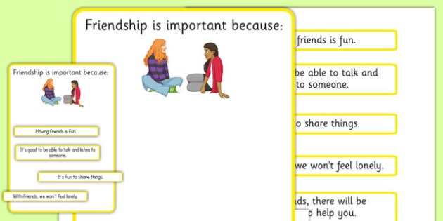 Ks3 Why Is Friendship Important Worksheet