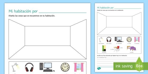 My Bedroom Worksheet   Worksheet