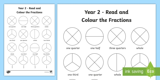 Read And Colour A Fraction
