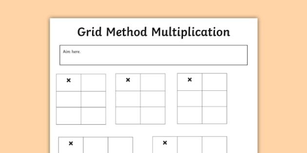 Editable Grid Method Multiplication Grids