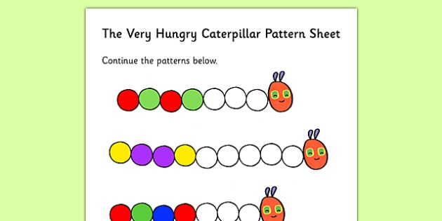 Color Sequences Worksheet To Support Teaching On The Very Hungry