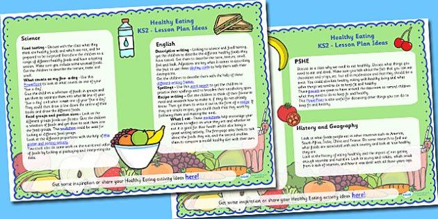 Healthy Eating Lesson Plan Ideas Ks2