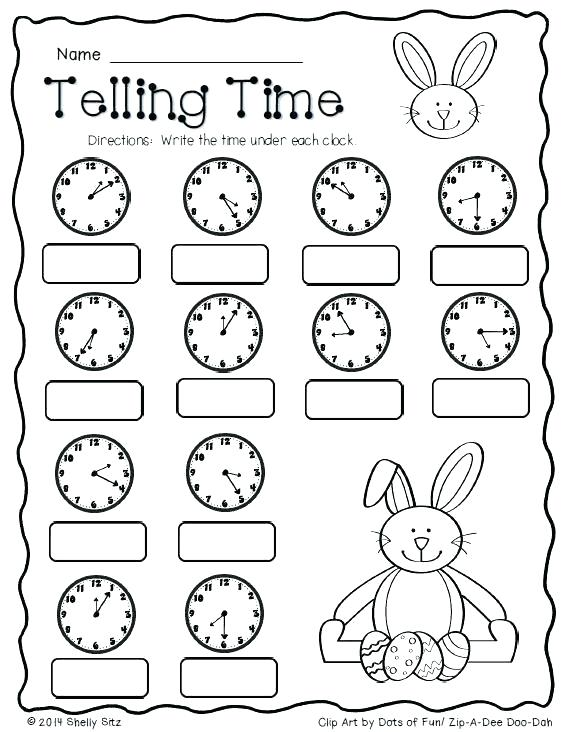 Telling Time In Spanish Printable Worksheets – Storyflow Co
