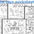 Toys Worksheets For Kids Pdf
