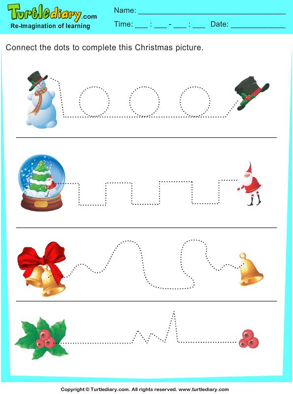 Tracing Christmas Bell Worksheet