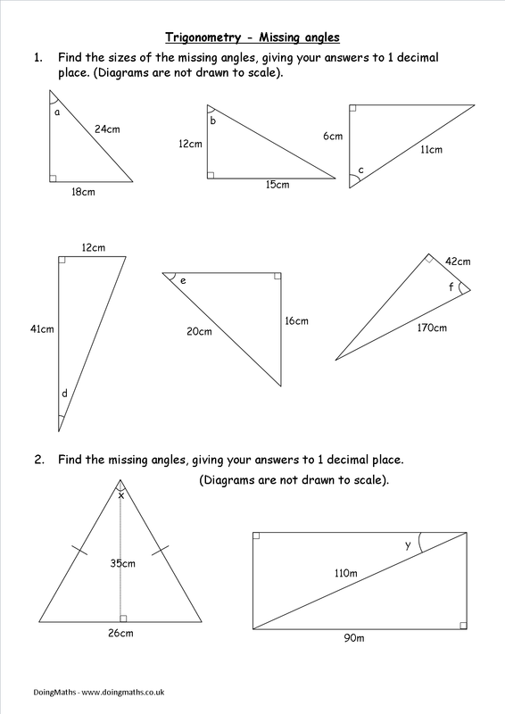 Trigonometry Worksheets And Powerpoints