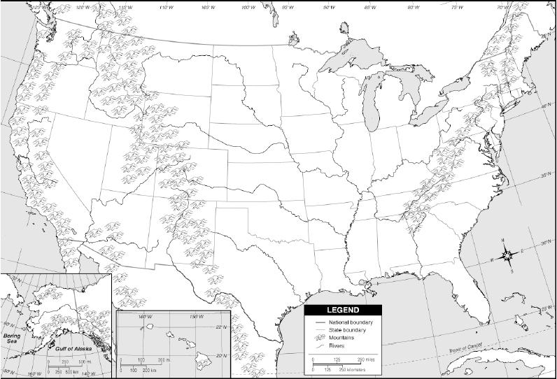 Us Canada Physical Features Quiz