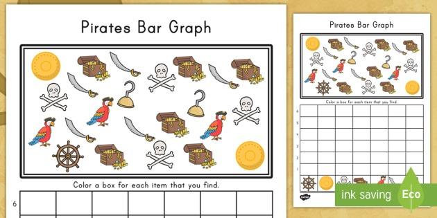 Pirate Bar Graph Worksheet   Worksheet