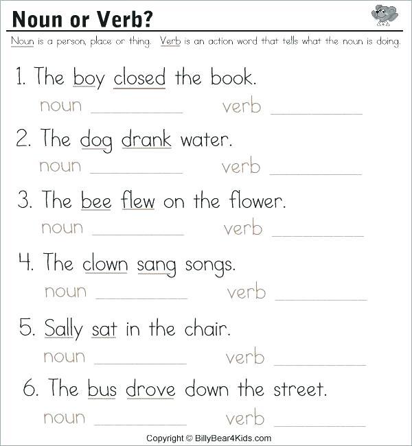 Verb Worksheets For Kindergarten Simple Verbs Worksheets