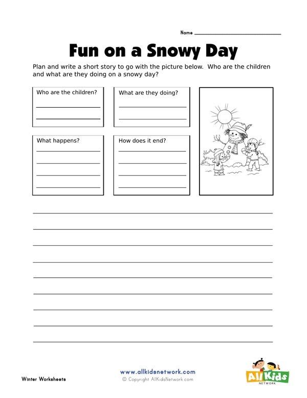 Plan And Write Worksheet