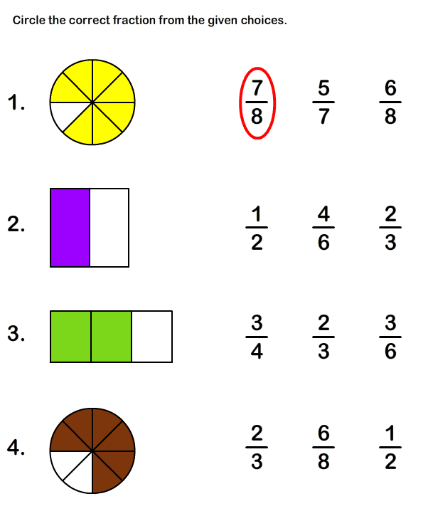 Free Printable Fraction Worksheets For Grade1