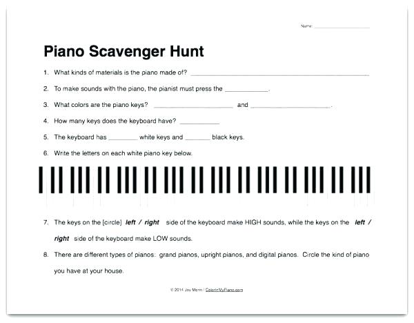 Beginner Piano Theory Worksheets Beginner Music Worksheets Basic