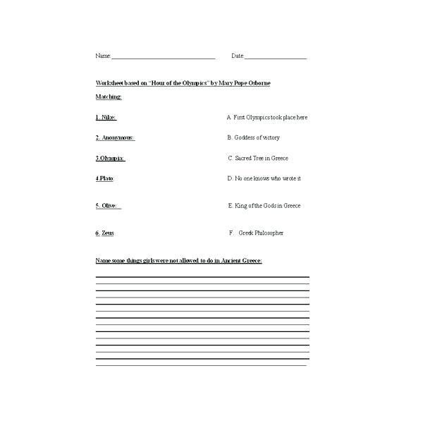 Ancient Greece Worksheets For Middle School