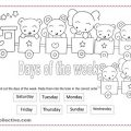 Days Of The Week Worksheets For Preschoolers