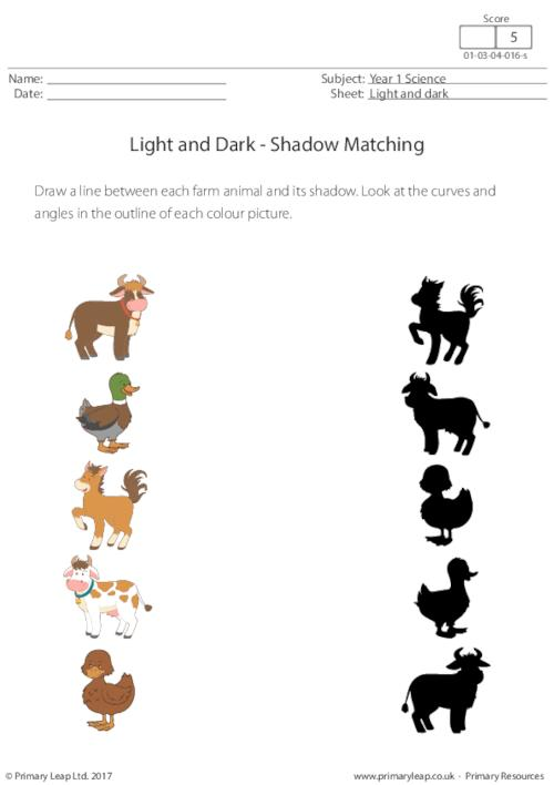 Shadow Matching (farm Animals)