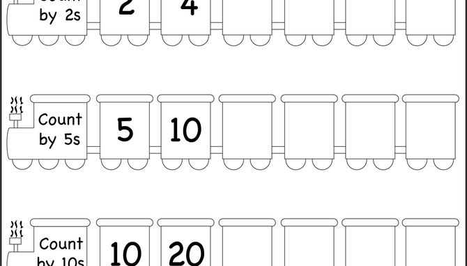 Skip Counting By 2, 5 And 10 – Worksheet