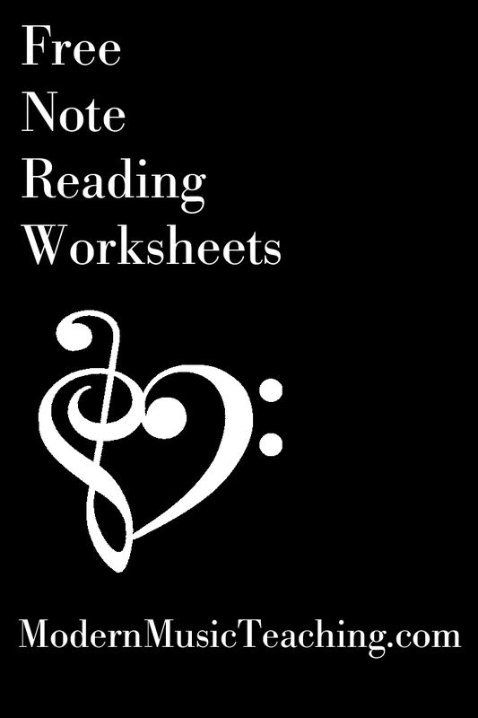 Free Music Theory Note Reading Worksheets From Modernmusicteaching