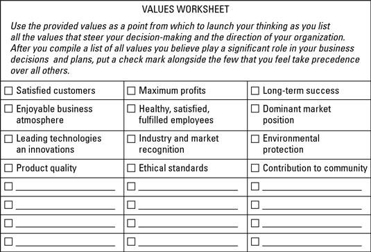 How To Establish Your Business's Vision, Mission, And Values