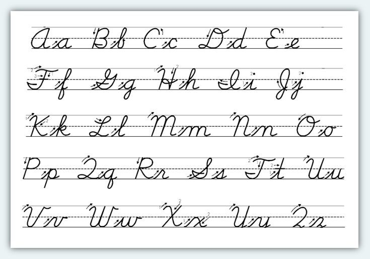 Free Printable Cursive Alphabet Worksheets  1