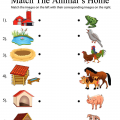 Animals Homes Worksheets
