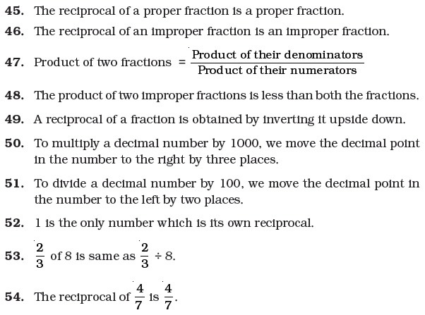 Class 7 Important Questions For Maths – Fractions And Decimals
