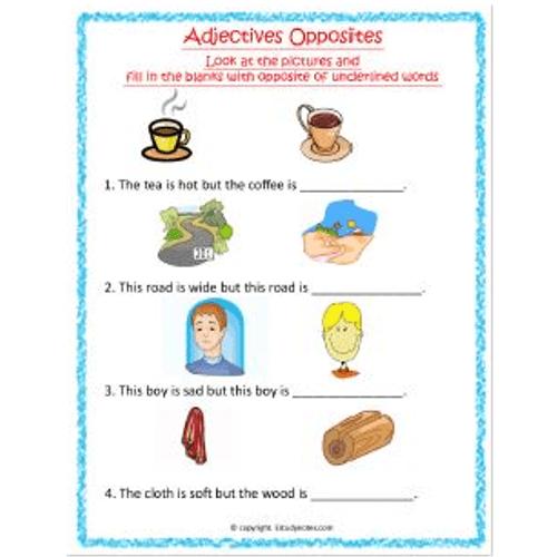 Adjectives Worksheet 8 Grade 1