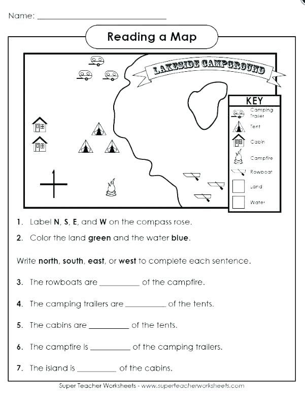 Free Map Skills Worksheets Map Skills Worksheets Map Skills