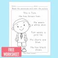 Reading And Writing English Worksheets