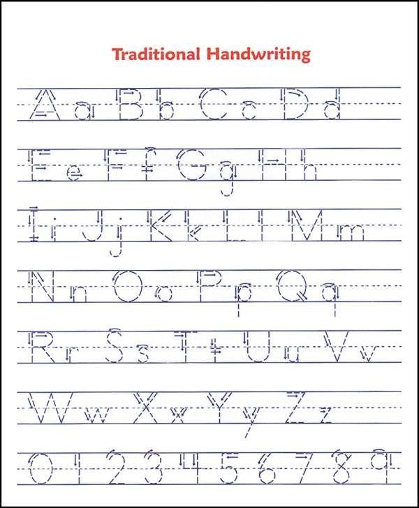 Tracing Alphabet Abc Handwriting