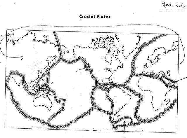 Blank Plate Tectonics Map