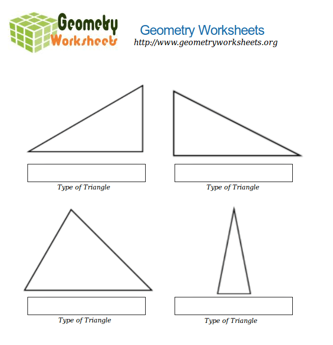 Geometry Worksheets For Types Of Triangles 3