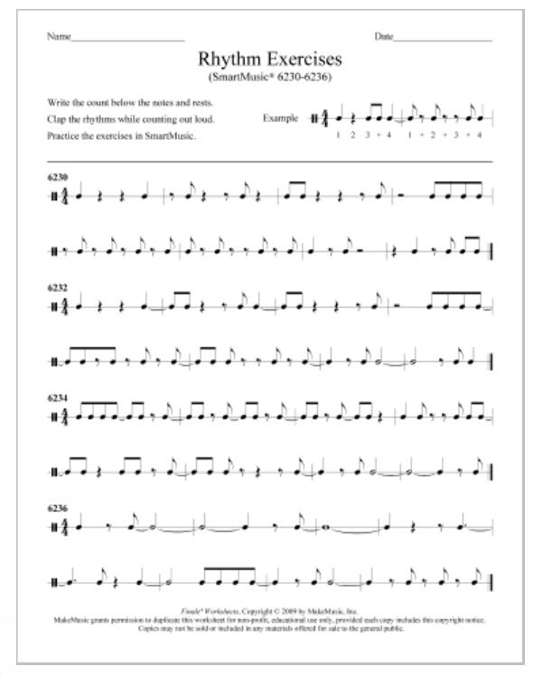 Music Education Worksheet