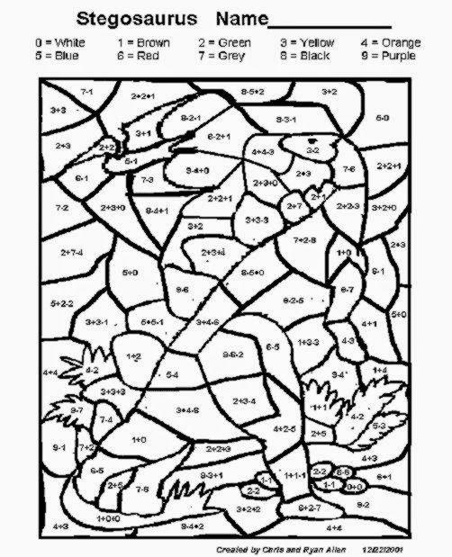 Coloring Squared Multiplication Worksheets