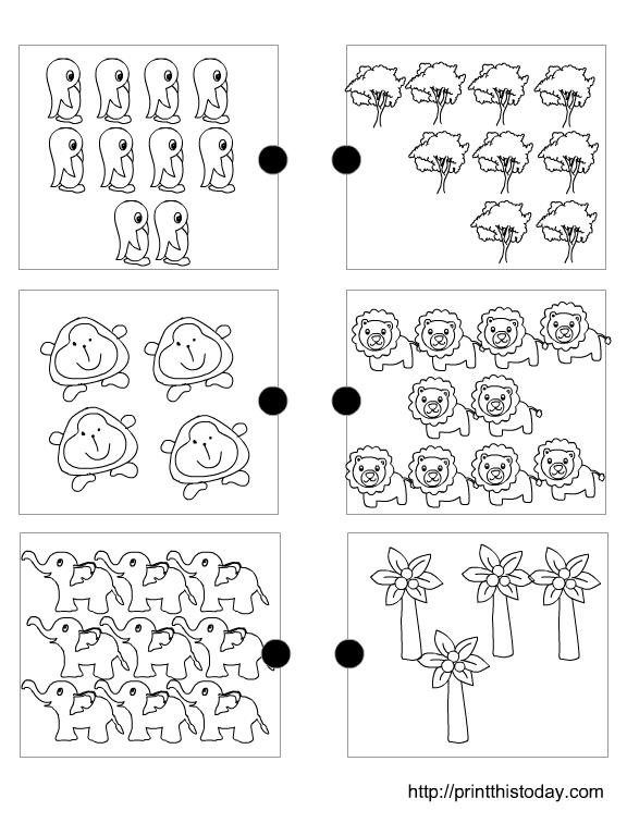 Matching Sets Worksheet For Pre