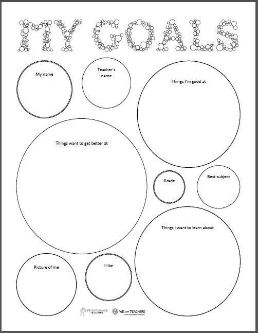 Squarehead Teachers  Goal Setting Sheet (freebie) For Elementary