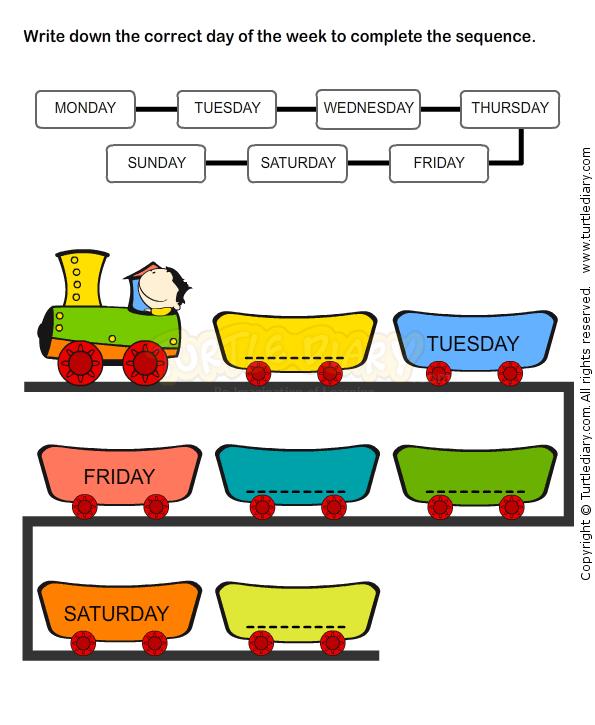 Weekdays Worksheet 9