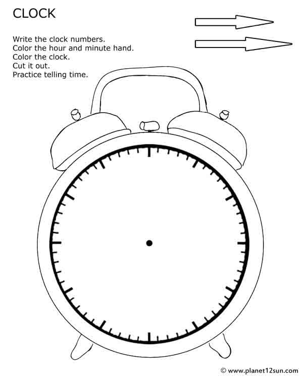 Printable Cut Out Clock  Practice Telling Time