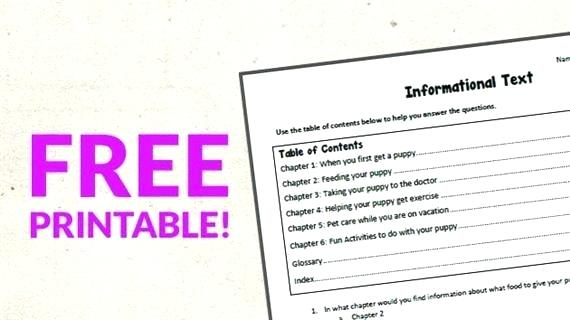 Table Of Contents Worksheets – Sunriseengineers Co