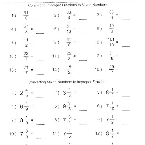 Adding And Subtracting Mixed Numbers Worksheets 5th Grade